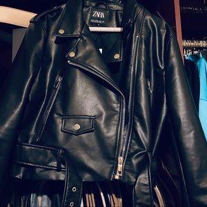 Brand New Zara Faux Leather Jacket Size XXL